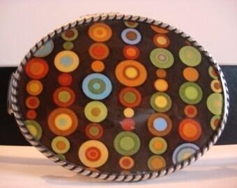 Juggler Belt buckle - Oval Wearable Art