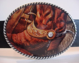 Cowboy Belt Buckle - Riding Boots