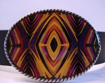 NEW Mod Geo Diamond Jada Oval Belt Buckle - Wearable Art