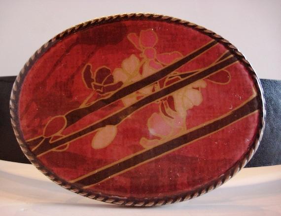 Jada Belt Buckle - Zen Garden - Oval Wearable Art