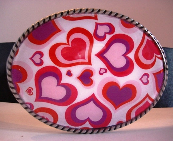 Jada Belt Buckle - Valentine Hearts - Add a Belt for only 8 Dollars - SALE
