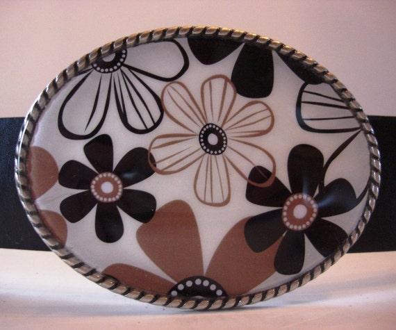 womens Belt Buckle - MOD Flowers 2 - Add a Belt for only 8 Dollars - SALE
