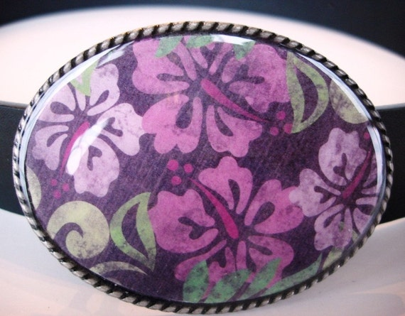 Jada Belt Buckle - Perfectly Spring - Oval Wearable Art