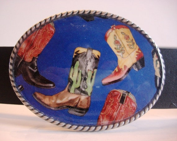 Cowboy Belt Buckle, Dancing Boots