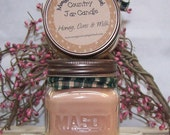 Honey Oats and Milk Half Pint Country Jar Candle