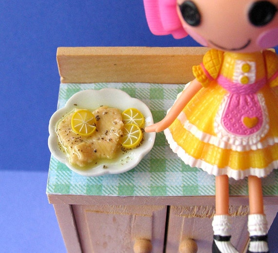Chicken Francese Miniature Doll Food