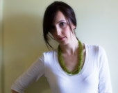 Necklace Multi Strand- Beaded Lime it Up