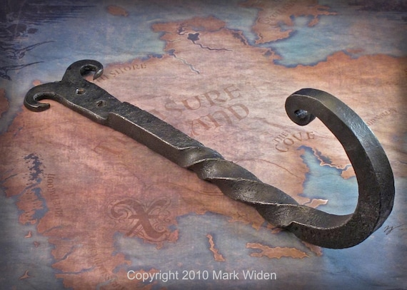 Real Wrought Iron Spit top Blacksmithed Hook