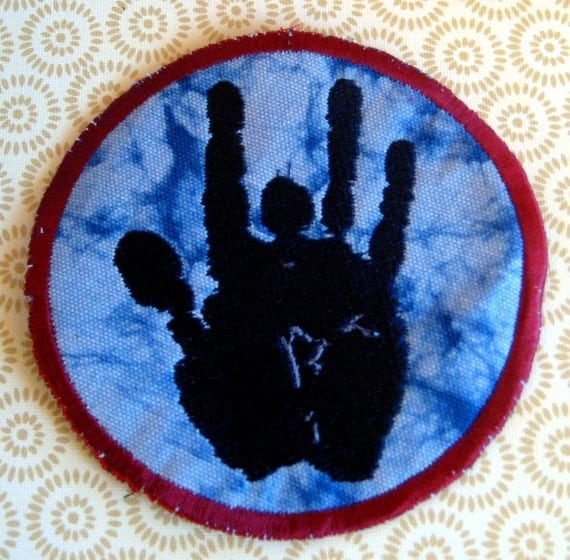 JERRY Hand - LARGE handmade embroidered art patch