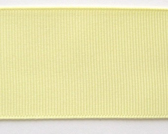 Grosgrain Ribbon Baby Maize-6 yds 3 inch wide or 8 yds 2 1/4 inch or 10 yds 1 1/2 inch or 16 yds 7/8 inch