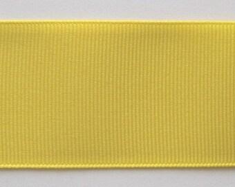 Grosgrain Ribbon Yellow -  33 yds 3/8 inch