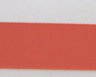 Grosgrain Ribbon Autumn Orange-12 yds 7/8 inch wide