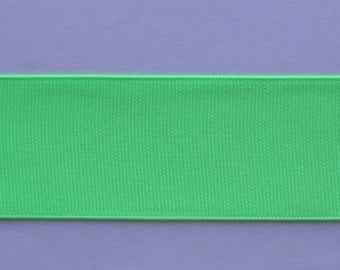 "Grosgrain Ribbon Lime- 10 yds 1 1/2 inch wide or 16 yds 7/8"" wide"