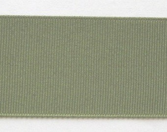"Grosgrain Ribbon Moss Green-8 yds 2 1/4 inch wide or 10 yds 1 1/2 inch wide (in two 5 yd pieces) or 16 yds 7/8"" wide"
