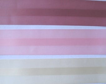 "Ribbed Edge Satin Ribbon Mauve or  Pink - 10 yds 2 1/4"" wide"
