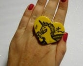 Unicorn Love Double Finger Ring