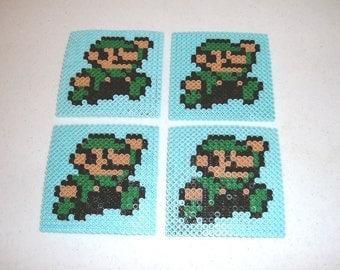 Perler Bead Coasters - LUIGI