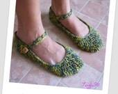 PDF Pattern - Crochet ballet slippers
