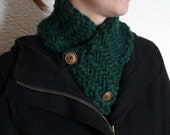 Hand Knit Chunky Forest Neckwarmer  - Made To Order