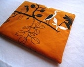 Birds on Burnt Orange Laptop Cover Case Sleeve Padded and Zipper Closure for MacBook Air 11 inch