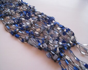 PIF Baby Blue Long and Skinny Scarf