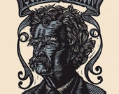Mark Twain Linocut  Print Portrait