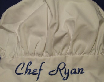 Personalized Child Chef Hat - YOU choose font & thread color for Name or Phrase