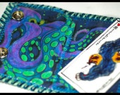 Blue Octopus Vinyl Wallet
