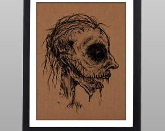 Zombie - fine art print Illustration