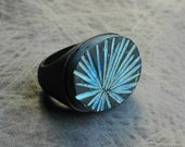Frond  Ring in Verdigris
