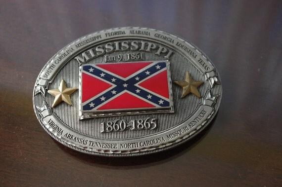 Mississippi Confederate Belt Buckle