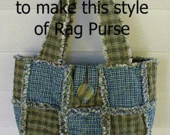 Ashlawnfarms Rag Quilt Purse Pattern Instructions PDF download