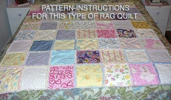 Ashlawnfarms Country Chenille Rag Quilt Pattern Instructions : rag quilt patterns - Adamdwight.com