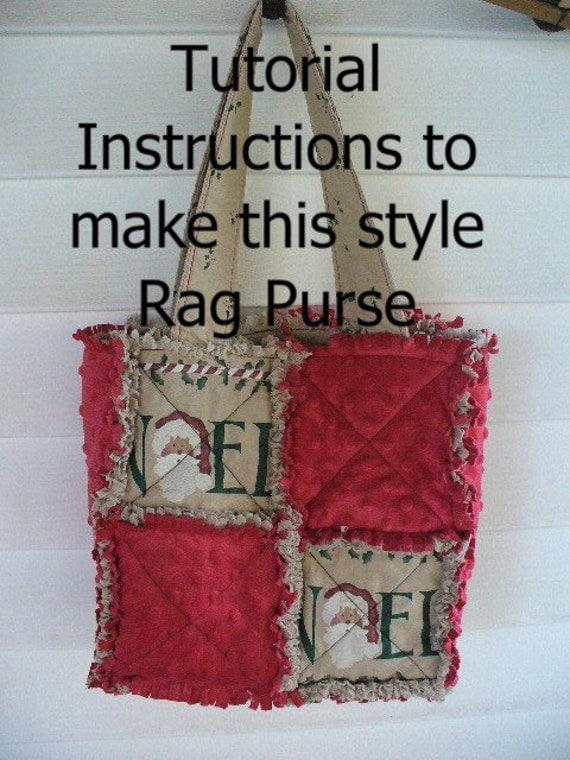 Rag Quilted Handbag Pattern : Ashlawnfarms Rag Quilted Purse Instructions by Ashlawnfarms