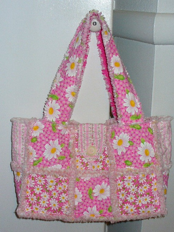 Rag Quilted Handbag Pattern : Rag Purse Pattern Instructions FREE Digital Download by