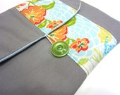 Padded Kindle Case Eco Friendly - Silver Cloud, Coral Rose, Peapod, Beeswax