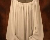 Medieval Rennaissance White Gauze Long Sleeve Chemise