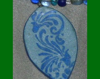 Blue waves necklace