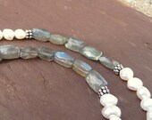Reserved for wendybirde - Labradorite and pearl necklace