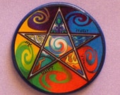 LABELED PENTAGRAM Talisman Amulet Witch Wicca OOAK