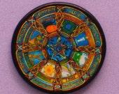 Witches Wheel Sabbats Talisman Amulet Wicca Pagan Gothic OOAK