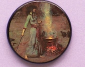 Vintage RITUAL WITCH Talisman Amulet Wicca Pagan Wiccan Gothic