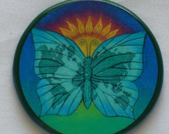 EARTH BUTTERFLY Talisman Amulet Witch Wicca