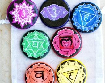 CHAKRA POCKET Set Talismans Witch Wicca Pagan Gothic