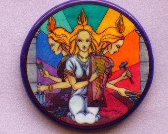 3 Aspects of BRIGID GODDESS Talisman Amulet Witch Wicca Pagan