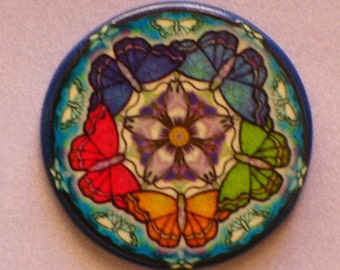 BUTTERFLY CIRCLE Talisman Amulet Witch Wicca Pagan Gothic