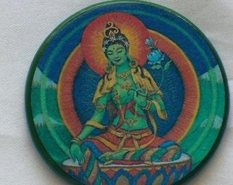 GREEN TARA Goddess Talisman Amulet Witch Wicca Wiccan Pagan