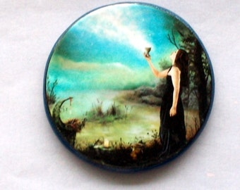 Charge of the FULL MOON Talisman Amulet Wicca Pagan OOAK