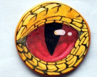 Golden DRAGON'S EYE Talisman Amulet Wicca Pagan
