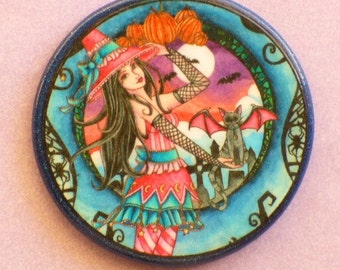 Aelita and Jax CAT FANTASY Talisman Amulet Witch Wicca